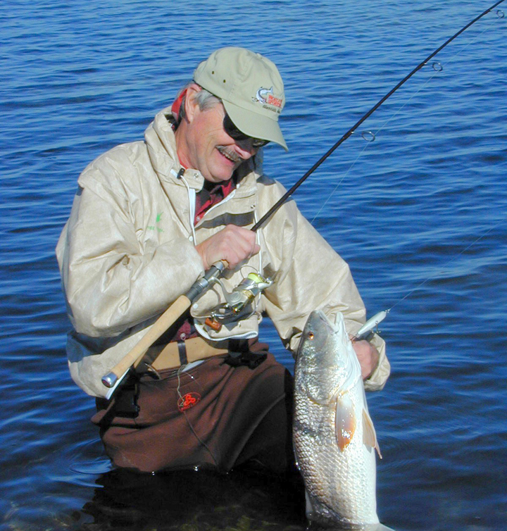 Wadefishing Frank with redfishclip